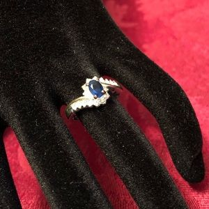 Silver & blue ring